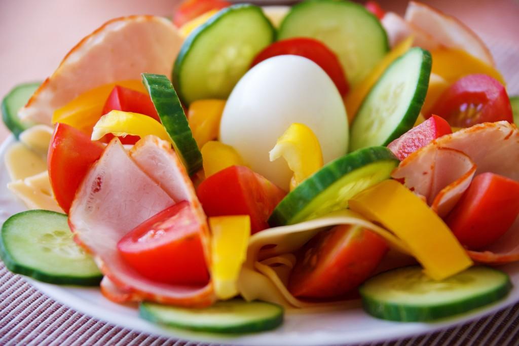 Vegetable salad from future garden