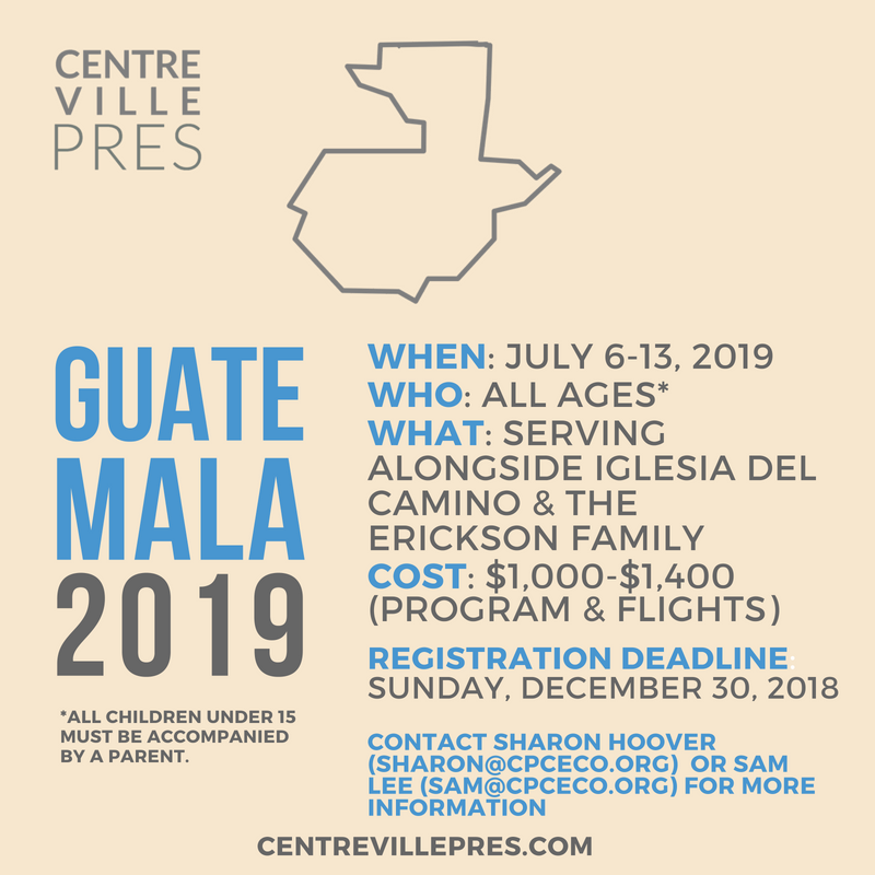 Guatemala Missions Trip 2019 – Registration Now Open!