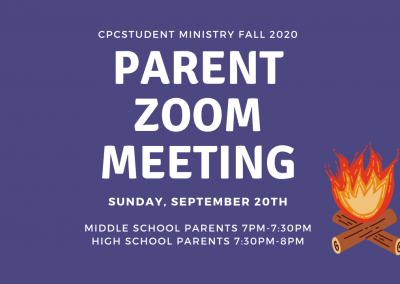 Student Ministry Parents Meeting