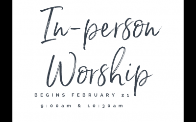 2 Worship  Services Begin February 21