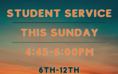 Student Service Announcement